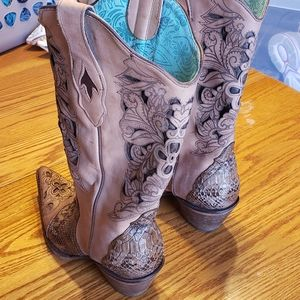 CORRAL VINTAGE CUSTOM MADE SNAKESKIN BOOTS